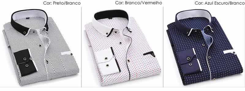Camisa Slim Fit Luxury Social Casual Modelos C004