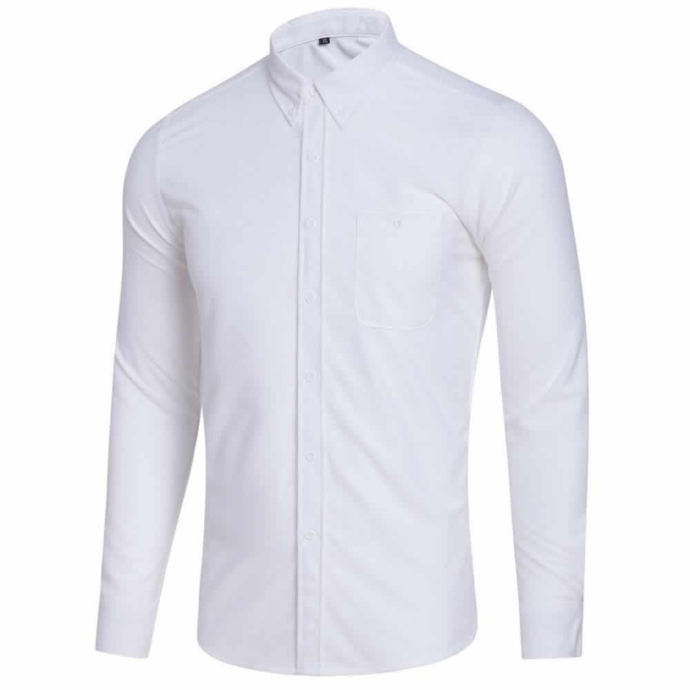 Camisa Casual Masculina Manga Longa Branca C009