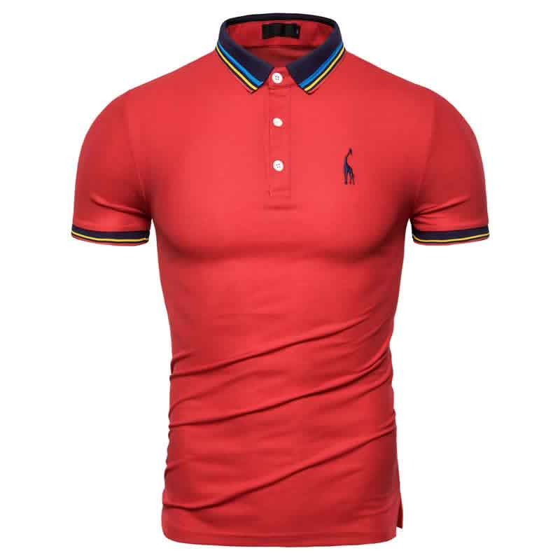 Camisa Polo Giraffe Premium Vermelha CP03