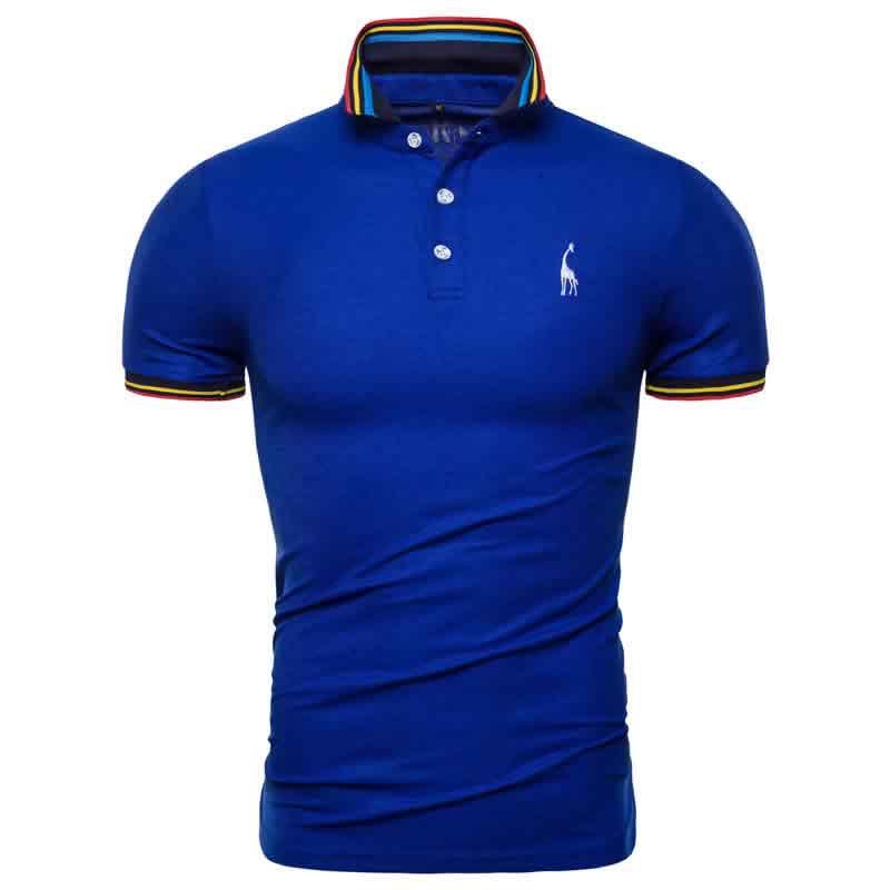Camisa Polo Giraffe Premium Azul CP03