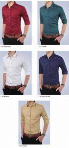 Camisa Slim Fit Ocasional Moderna Varias Cores 003