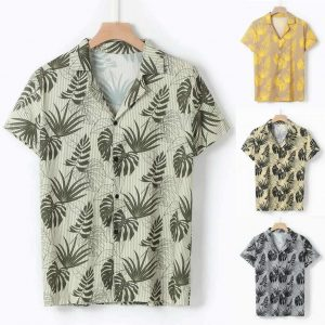 Camisa Casual Slim Fit Estilo Europeu Moda Verão Tabela 2 C011