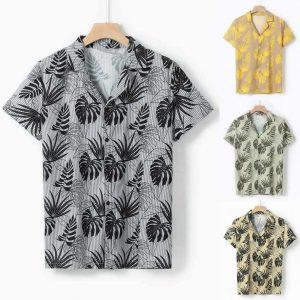 Camisa Casual Slim Fit Estilo Europeu Moda Verão Tabela 1 C011