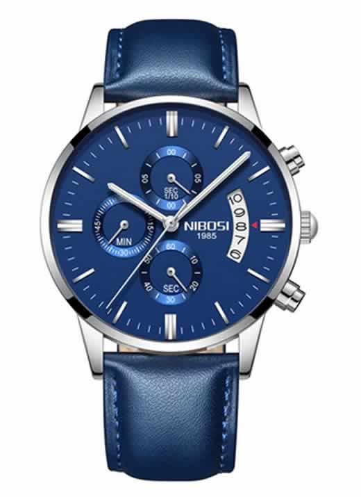 Relógio Original Nibosi Azul Couro Comprar