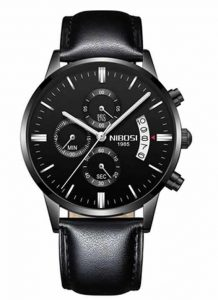 Relógio Original Nibosi Preto Couro Comprar