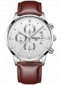 Relógio Original Nibosi Branco Couro Comprar