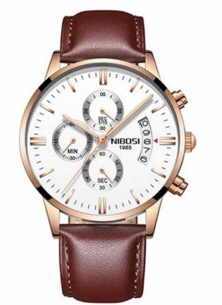 Relógio Original Nibosi Cobre Couro Comprar