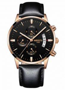 Relógio Original Nibosi Preto Couro B Comprar