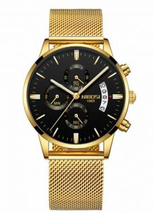 Relógio Original Nibosi Ouro Comprar