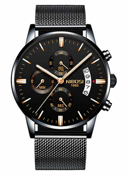 Relógio Original Nibosi Preto AComprar