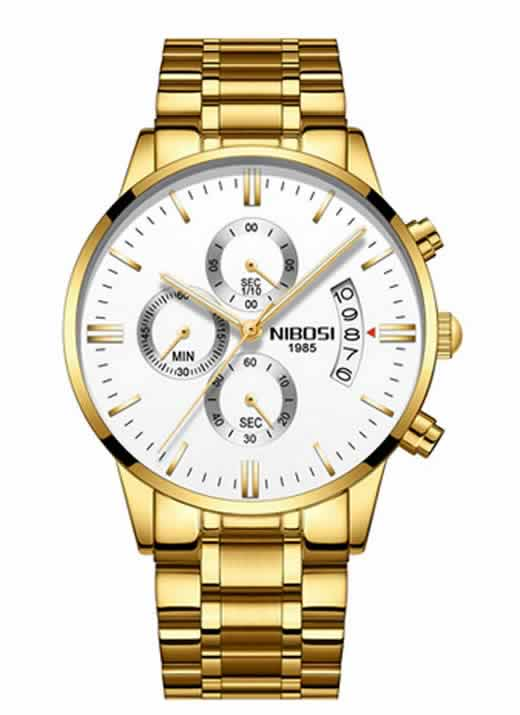 Relógio Original Nibosi Dourado Comprar