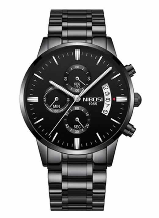 Relógio Original Nibosi Preto Cinza Comprar