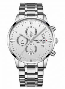 Relógio Original Nibosi Diamante Branco Comprar