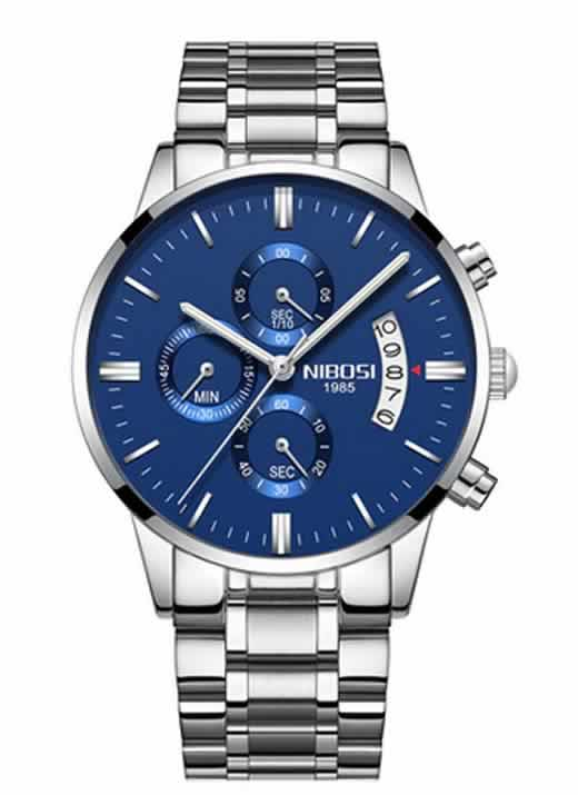 Relógio Original Nibosi Diamante Azul Comprar