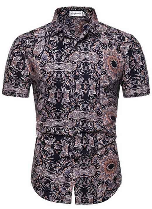 Camisa Masculina Casual Havaiana Moda Praia Olho C014