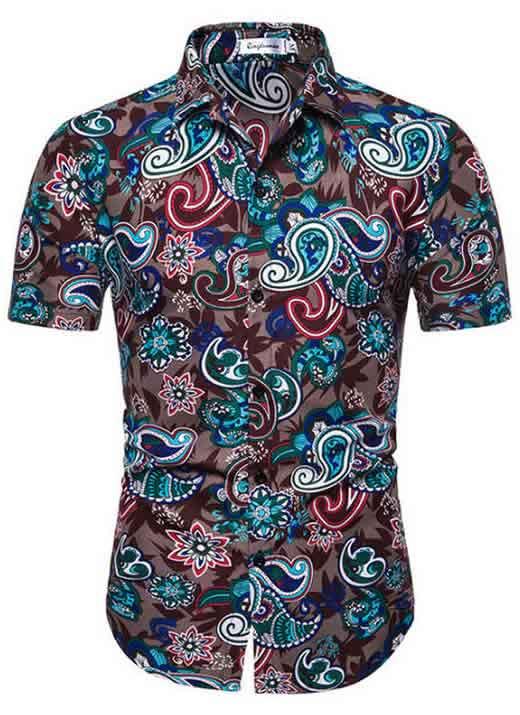 Camisa Masculina Casual Havaiana Moda Praia Fantasia C014