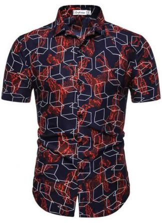 Camisa Masculina Casual Havaiana Moda Praia Cubo C014