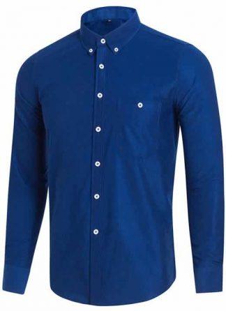 Capa Camisa Casual Masculina Manga Longa Azul C009