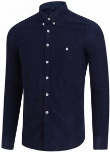 Capa Camisa Casual Masculina Manga Longa Azul Marinho C009