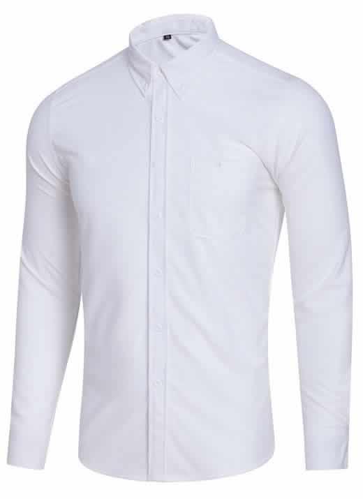 Capa Camisa Casual Masculina Manga Longa Branca C009