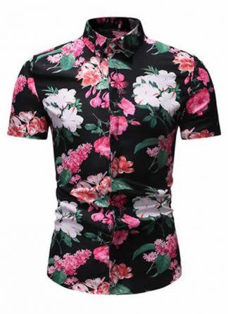 Camisa Floral Slim Fit Moda Verão MultiColores C010