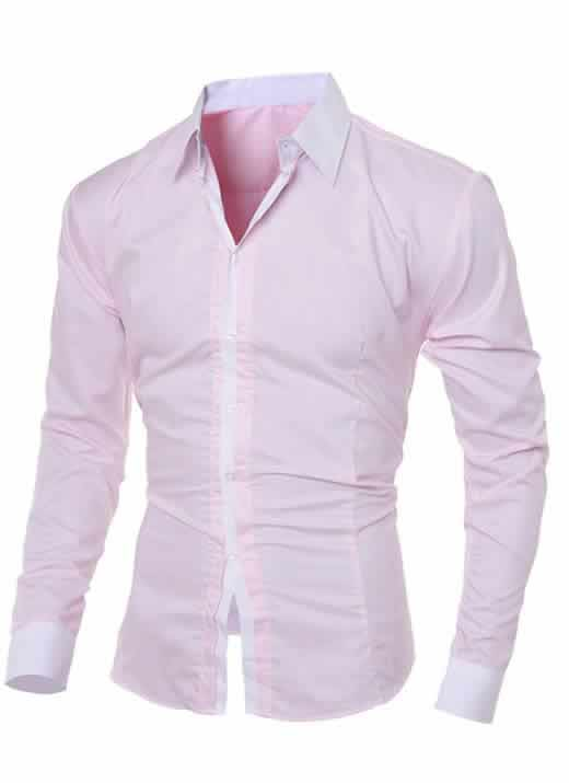 Capa Camisa Manga Longa Elegante de Alta Qualidade Rosa C006