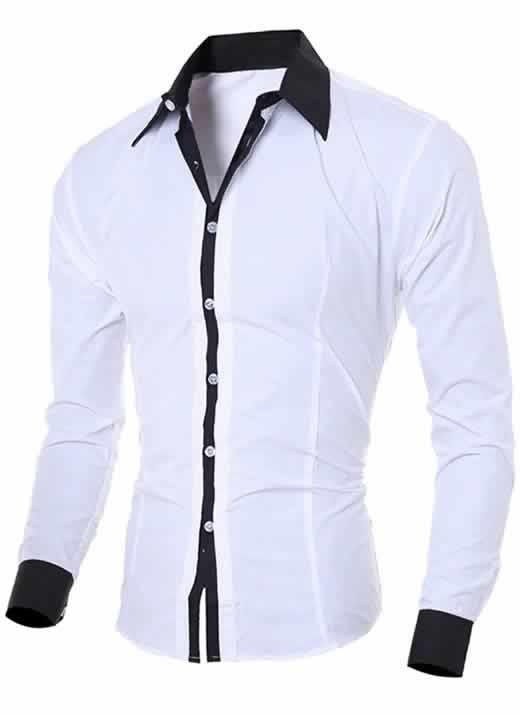 Capa Camisa Manga Longa Elegante de Alta Qualidade Branca C006