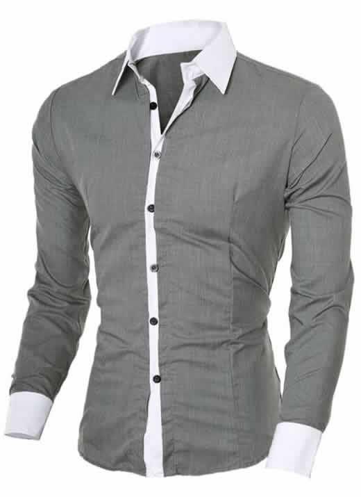 Capa Camisa Manga Longa Elegante de Alta Qualidade Cinza C006