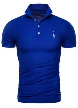 Capa Camisa Polo Girafa Manga Curta Azul CP02