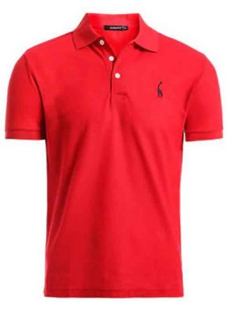 Capa Camisa Polo Girafa Manga Curta Vermelho CP02
