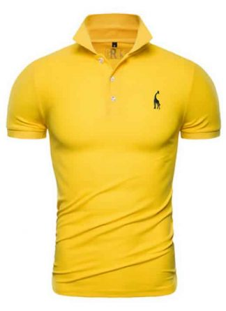 Capa Camisa Polo Girafa Manga Curta Amarelo CP02