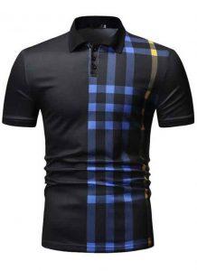 Capa Camisa Polo Manga Curta Moda Streetwear Preta C015