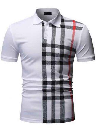 Capa Camisa Polo Manga Curta Moda Streetwear Branca C015
