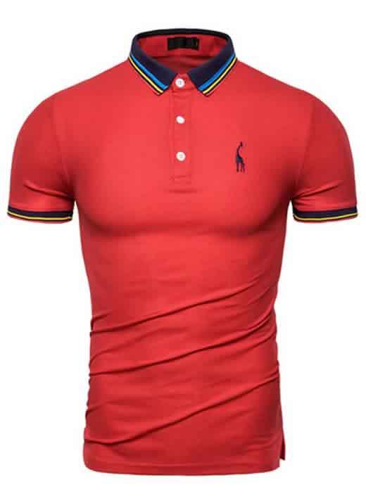 Capa Camisa Polo Giraffe Premium Vermelha CP03