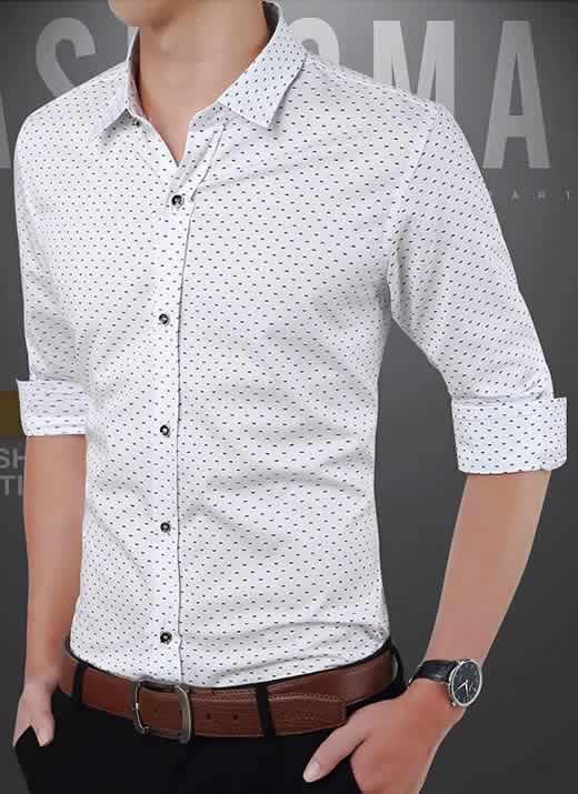 Capa Camisa Slim Fit Ocasional Moderna Branca 003