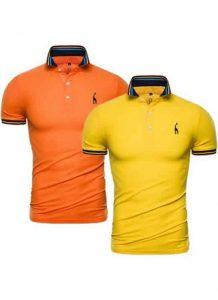 Kit 2 Camisas Polo GRF Premium Laranja e Amarelo