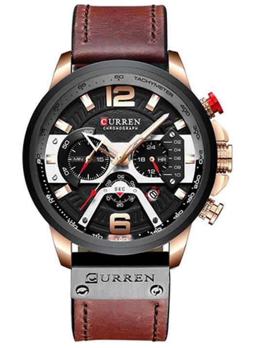 Relógio Esportivo Curren Top Original Bronse/PretoR004