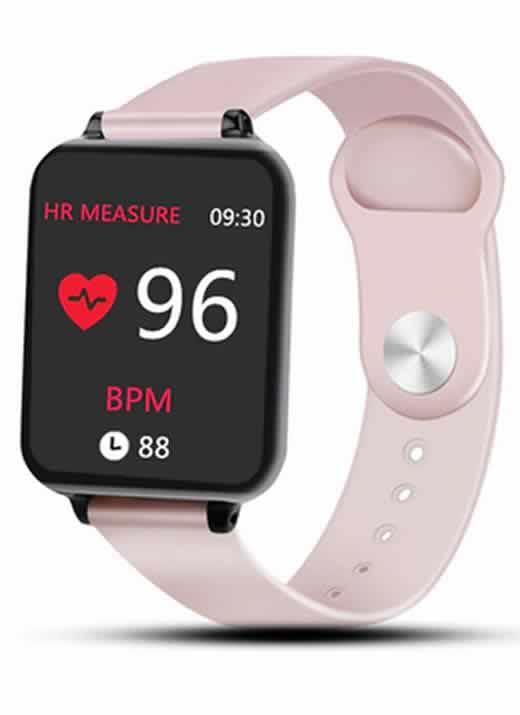 relógio smartwatch rosa RI001