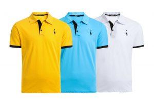 Kit 3 Camisas Polo Giraffe Gola Alta