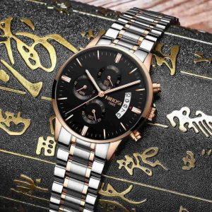 Relógio Blindado NIBOSI Inox Funcional Original R001