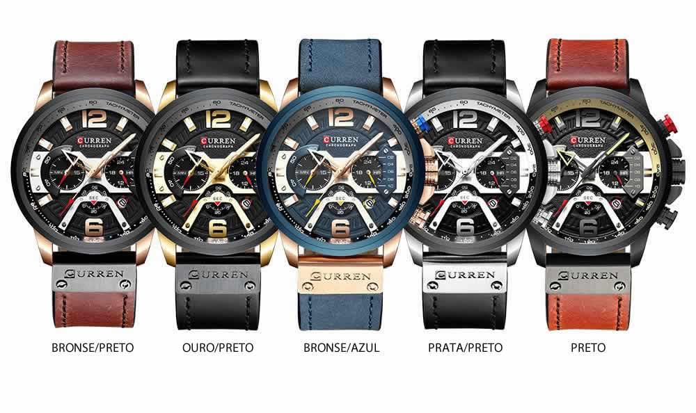 Relógio Esportivo Curren Top Original Modelos R004
