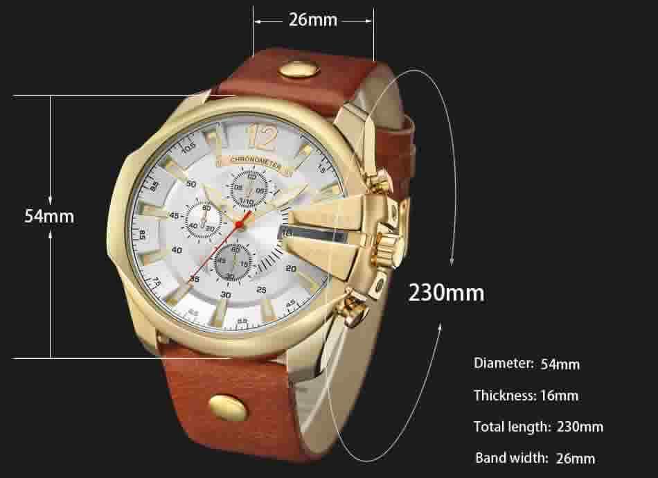 Relógio Curren Masculino Pulseira De Couro Original Promoção R002