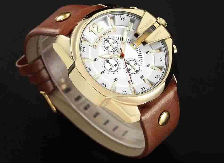 Relógio Curren Masculino Pulseira De Couro Original Homem R002