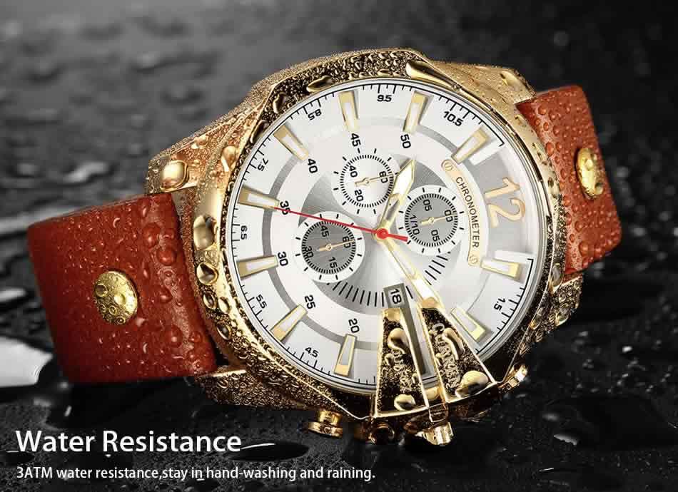 Relógio Curren Masculino Pulseira De Couro Original Lindo R002