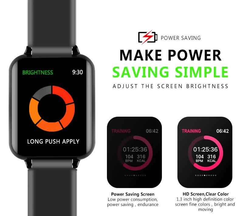 Relógio Smart Watch Inteligente Fit Pressão Arterial B57 Make Power RI001