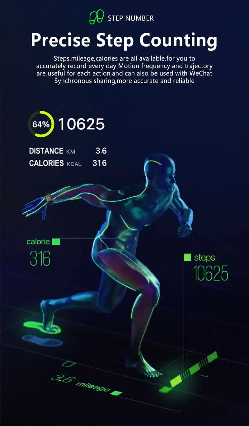 Relógio Smart Watch Inteligente Fit Pressão Arterial B57 Corrida RI001