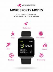 Relógio Smart Watch Inteligente Fit Pressão Arterial B57 Função Esportes RI001