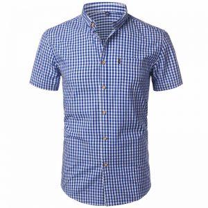 camisa xadrez masculina, camisa xadrez masculina algodão, camisa xadrez masculina GG, camisa xadrez masculina slim fit, camisa xadrez masculina country, camisa xadrez masculina como usar, camisa xadrez masculina barata Azul Escuro Frente