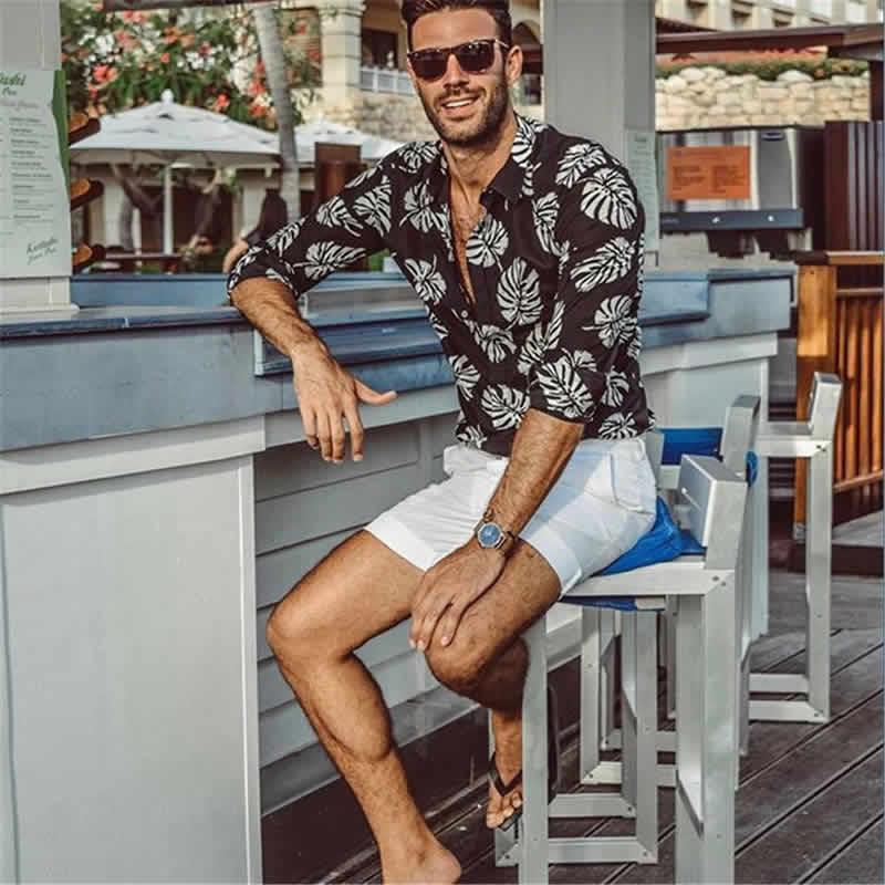 Camisa Florida Havaiana Tropical Preto C017