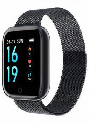 Relógio Eletrônico Smartwatch CF T80 - IP68 - Android e iOS Preto Aço